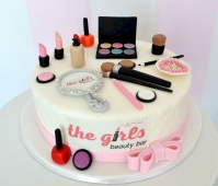 [nr: 2082 ] Tort firmowy - the girls Beauty Bar