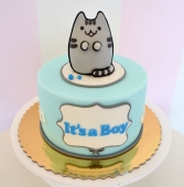 [nr: 2769 ] tort na baby shower Pusheen